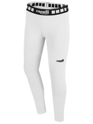 FUSION FC GIRLS AND WOMEN FULL LENGTH PERFORMANCE TIGHT -- WHITE BLACK
