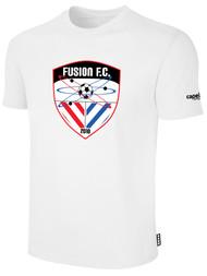 FUSION FC SHORT SLEEVE COTTON T-SHIRT -- WHITE BLACK