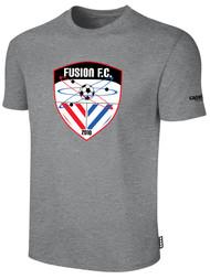 FUSION FC SHORT SLEEVE COTTON T-SHIRT -- LIGHT HEATHER GREY