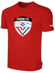 FUSION FC SHORT SLEEVE COTTON T-SHIRT -- RED WHITE