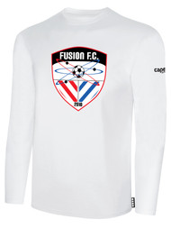 FUSION FC LONG SLEEVE COTTON T-SHIRT -- WHITE BLACK