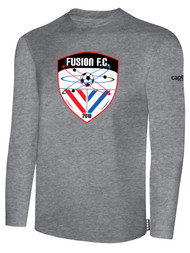 FUSION FC LONG SLEEVE COTTON T-SHIRT -- LIGHT HEATHER GREY