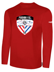 FUSION FC LONG SLEEVE COTTON T-SHIRT -- RED