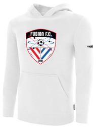 FUSION FC FLEECE PULLOVER HOODIE -- WHITE BLACK