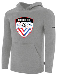 FUSION FC FLEECE PULLOVER HOODIE -- LIGHT HEATHER GREY