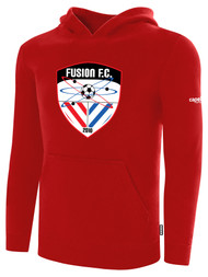 FUSION FC FLEECE PULLOVER HOODIE -- RED