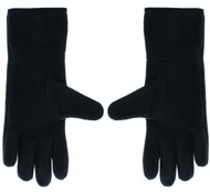 FLEECE GLOVE WITH TOUCH FINGER   --  BLACK WHITE