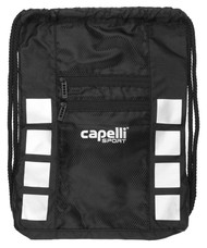 NORTH ALABAMA 4-CUBE SACK PACK WITH 2 ZIP POCKETS -- BLACK SILVER