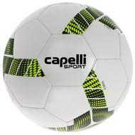 NORTH ALABAMA CAPELLI SPORT TRIEBCA MACHINE STITCHED SOCCER BALL  --  WHITE NEON YELLOW BLACK