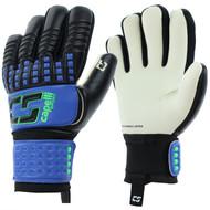 HARLEYSVILLE FC  CS 4 CUBE COMPETITION GOALKEEPER GLOVE  -- PROMO BLUE NEON GREEN BLACK