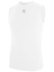 CS COOL SLEEVELESS COMPRESSION SHIRT  -- WHITE