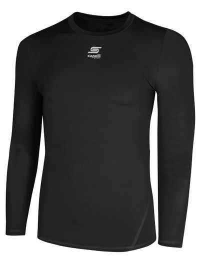 55c16eb37dac Home · Capelli Sport Equipment · Compression; CS COOL LONG SLEEVE  COMPRESSION SHIRT -- BLACK $26 - $28. Image 1