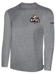 KPSC LONG SLEEVE T-SHIRT -LIGHT HEATHER GREY  $18 - $20