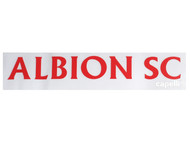 ALBION SC® SAN DIEGO CAR WINDOW DECAL --  BLUE BRIGHT RED