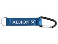ALBION SC® SAN DIEGO NYLON CARABINER KEYCHAIN -- BLUE WHITE