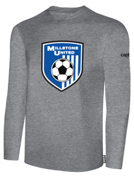 MILLSTONE UNITED LONG SLEEVE T-SHIRT -LIGHT HEATHER GREY