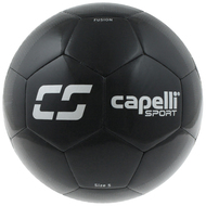 SPORT FUSION COMPETITION SOCCER BALL -- BLACK SILVER
