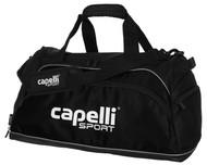 "FUSION FC CAPELLI SPORT MEDIUM TEAM DUFFLE BAG- 23.5""LX12.5""WX12""H -- BLACK COMBO"