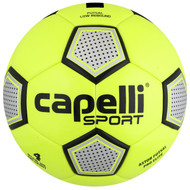 FUSION FC CAPELLI SPORT ASTOR FUTSAL PRO ELITE THERMO BONDED SOCCER BALL -- LIME YELLOW BLACK