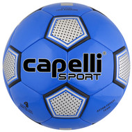 FUSION FC CAPELLI SPORT ASTOR FUTSAL TEAM MACHINE STITCHED SOCCER BALL -- PROMO BLUE SILVER