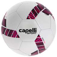 FUSION FC CAPELLI SPORT TRIEBCA MACHINE STITCHED SOCCER BALL  --  WHITE NEON PINK BLACK