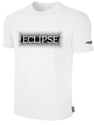 ECLIPSE SELECT ILLINOIS COTTON T-SHIRT WITH BLUR ECLIPSE LOGO -- WHITE BLACK