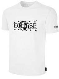 ECLIPSE SELECT ILLINOIS COTTON T-SHIRT WITH ECLIPSE LOGO -- WHITE BLACK