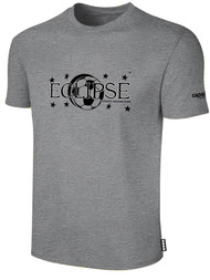 ECLIPSE SELECT ILLINOIS COTTON T-SHIRT WITH ECLIPSE LOGO -- LIGHT HEATHER GREY BLACK