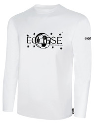 ECLIPSE SELECT ILLINOIS BASICS COTTON LONG SLEEVE T-SHIRT -- WHITE BLACK