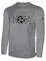 ECLIPSE SELECT ILLINOIS BASICS COTTON LONG SLEEVE T-SHIRT -- LIGHT HEATHER GREY BLACK