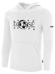 ECLIPSE SELECT ILLINOIS BASICS FLEECE PULLOVER HOODIE -- WHITE BLACK