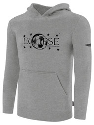 ECLIPSE SELECT ILLINOIS BASICS FLEECE PULLOVER HOODIE -- LIGHT HEATHER GREY BLACK