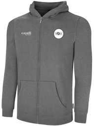 ECLIPSE SELECT ILLINOIS BASICS FLEECE FULL ZIP HOODIE -- LIGHT HEATHER GREY BLACK