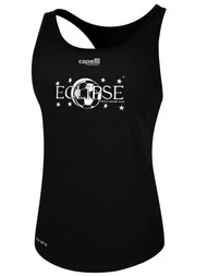 ECLIPSE SELECT ILLINOIS POLY WOMEN'S RACER BACK TANK -- BLACK  --  IS ON BACK ORDER, WILL SHIP BY 11/15