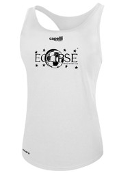 ECLIPSE SELECT ILLINOIS POLY WOMEN'S RACER BACK TANK -- WHITE  --  IS ON BACK ORDER, WILL SHIP BY 11/15