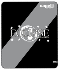 ECLIPSE SELECT ILLINOIS FLEECE THROW 50‰Û x 60‰Û -- BLACK LIGHT GREY WHITE