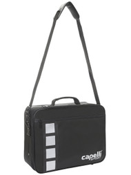 KC COMETS 4 CUBE PRO MEDICAL BAG WITH INSIDE POCKETS & VELCRO STARPS --  BLACK SILVER