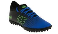 KC COMETS CS FUSION TURF SOCCER SHOES -- PROMO BLUE NEON GREEN BLACK