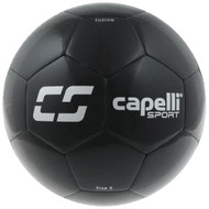 KC COMETS CS FUSION MACHINE STITCHED SOCCER BALL -- BLACK SILVER