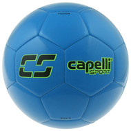 KC COMETS CS FUSION MACHINE STITCHED SOCCER BALL  -- PROMO BLUE NEON GREEN