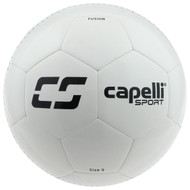 KC COMETS CS FUSION MACHINE STITCHED SOCCER BALL  -- WHITE BLACK