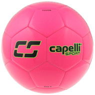 KC COMETS CS FUSION MACHINE STITCHED SOCCER BALL -- NEON PINK NEON GREEN