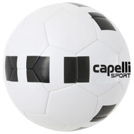 KC COMETS 4 CUBE CLASSIC COMPETITION ELITE THERMAL BONDED SOCCER BALL -- WHITE BLACK