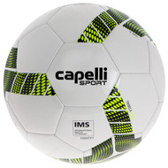 KC COMETS CAPELLI SPORT TRIEBCA MACHINE STITCHED SOCCER BALL -- WHITE NEON YELLOW BLACK