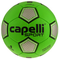 KC COMETS CAPELLI SPORT ASTOR FUTSAL COMPETITION HAND STITCHED SOCCER BALL -- BRIGHT GREEN SILVER