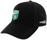 FLORIDA TROPICS STRUCTURED ADJUSTABLE BASEBALL CAP WITH EMBROIDERED LOGO  -- BLACK WHITE