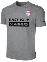EAST ISLIP SLAMMERS SHORT SLEEVE COTTON T-SHIRT -- LIGHT HEATHER GREY