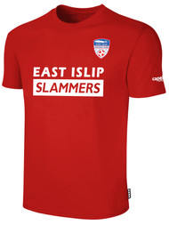 EAST ISLIP SLAMMERS SHORT SLEEVE COTTON T-SHIRT -- RED WHITE