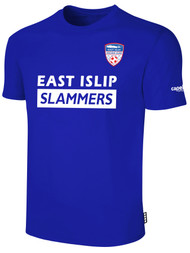 EAST ISLIP SLAMMERS SHORT SLEEVE COTTON T-SHIRT -- ROYAL BLUE WHITE