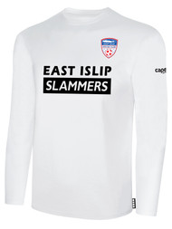 EAST ISLIP SLAMMERS LONG SLEEVE COTTON T-SHIRT -- WHITE BLACK